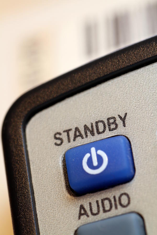 Standby key on a remote control stock image