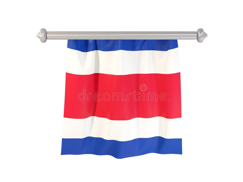 Standert med flaggan av Costa Rica stock illustrationer