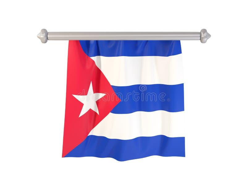 Standert med flaggan av Kuba royaltyfri illustrationer