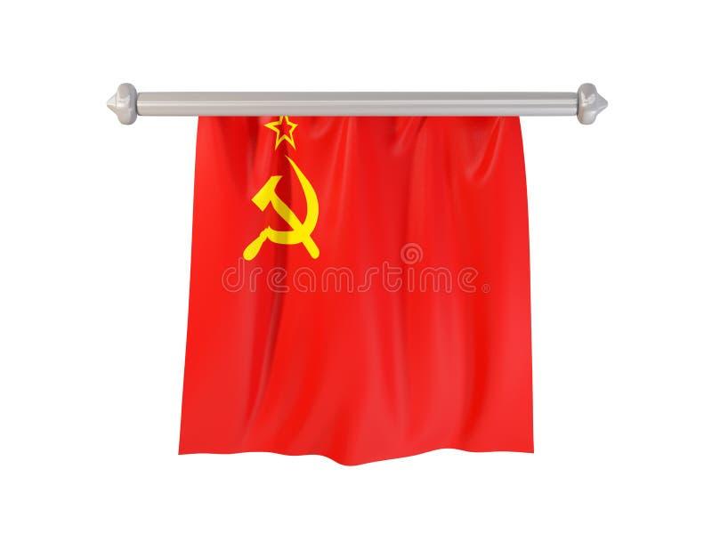 Standert med flaggan av ussr vektor illustrationer