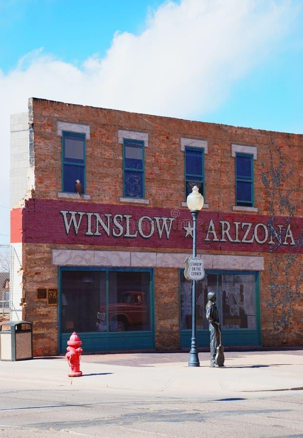 Standin' on the corner, Winslow, Arizona stock image