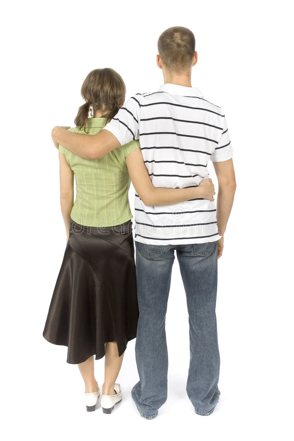 Standing (back) couple royalty free stock photo