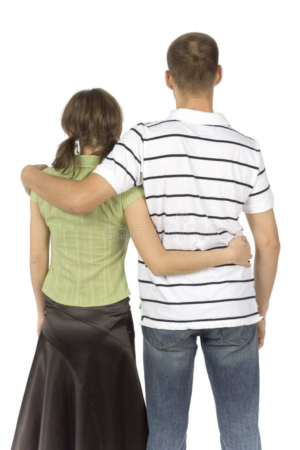 Standing (back) couple stock photos
