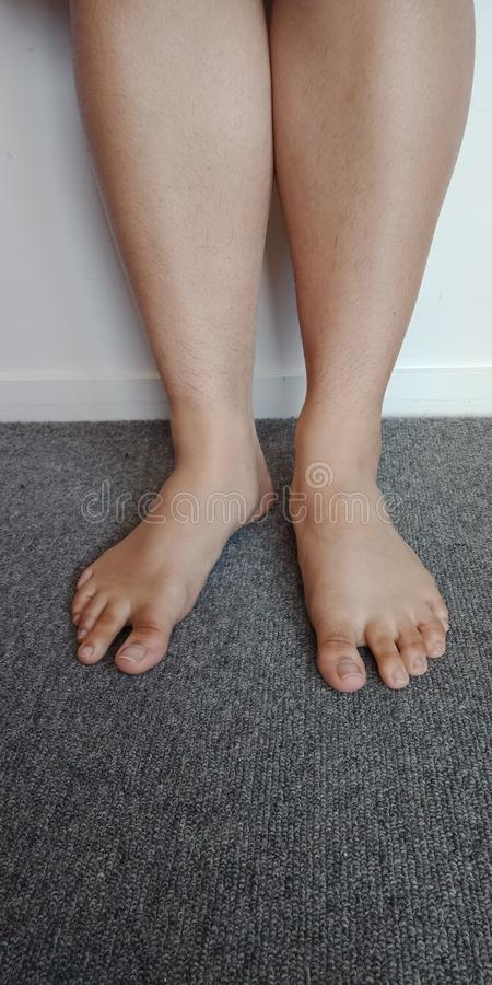 Standing Barefoot + Calves royalty free stock photo