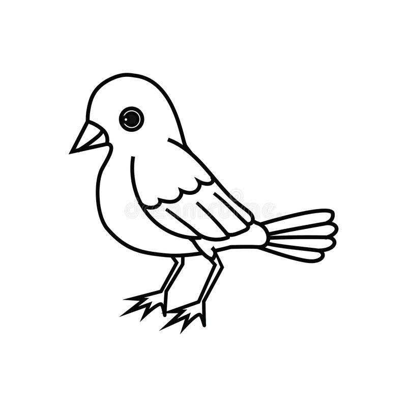 Free Standing Bird Outline Royalty Free Stock Images - 62333049