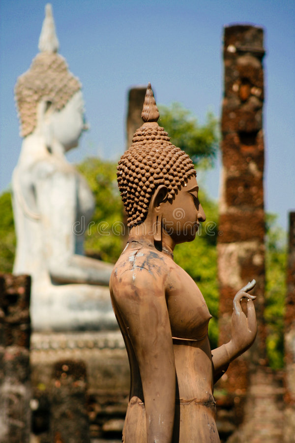 Free Standing Buddha In Sukhotai, Thailand Royalty Free Stock Photo - 7916665