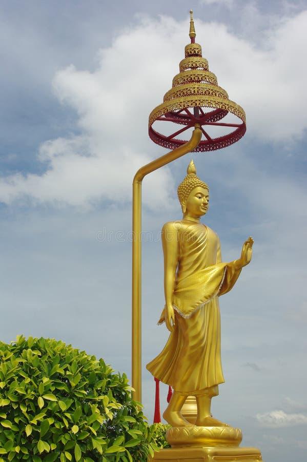 Standing buddha statue stock photography