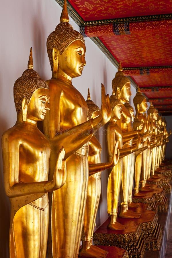 Standing Buddha statues, Thailand