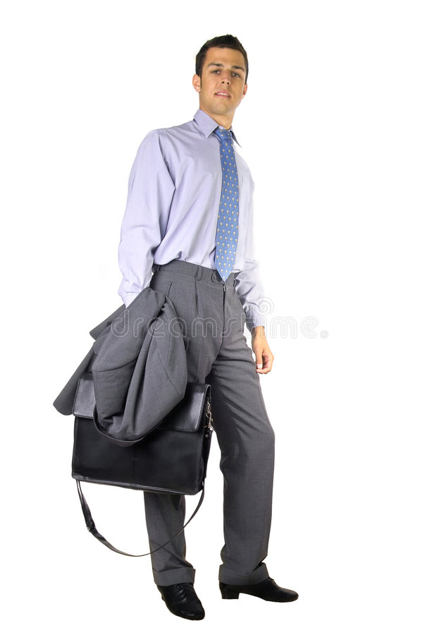 Download Standing business man stock image. Image of office, briefcase - 196469