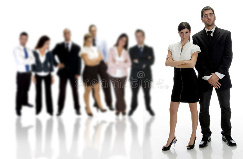 Standing business partners stock photo