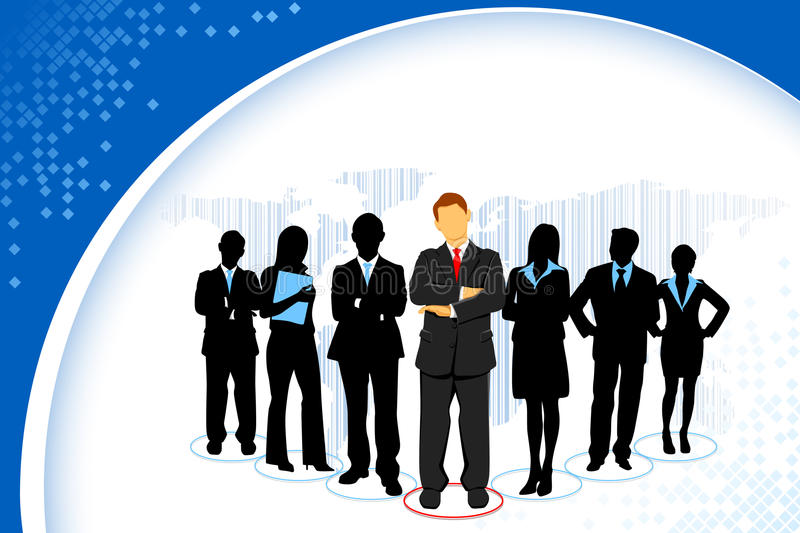 Download Standing Business People stock vector. Image of occupation - 21383988
