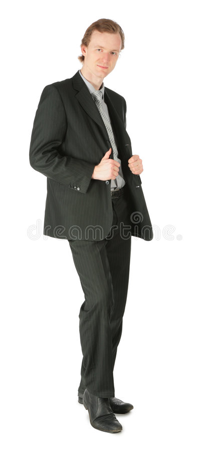 Standing businessman royalty free stock photo