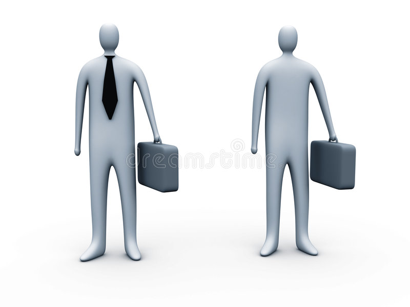 Standing businessmen stock photos