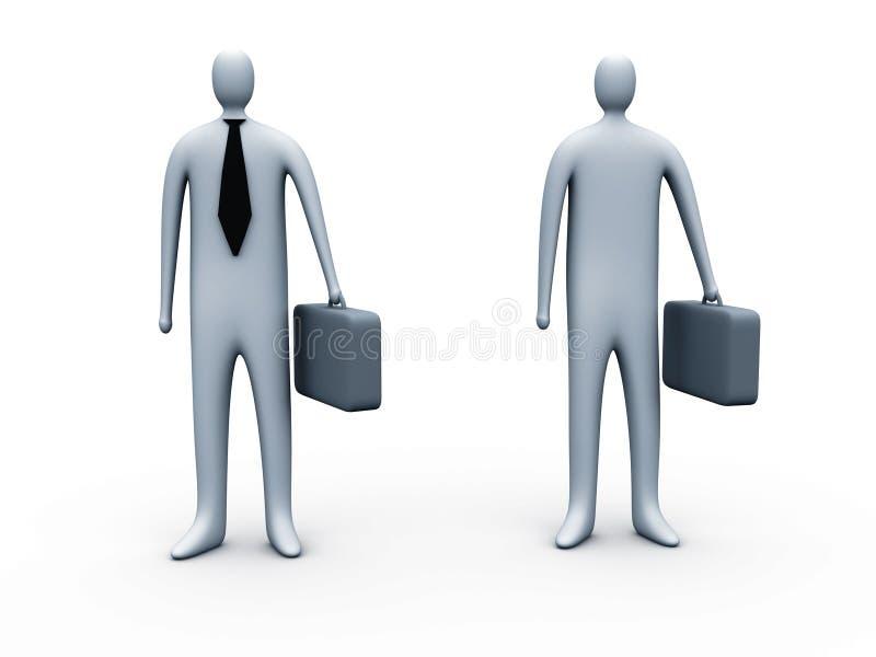 Standing businessmen stock illustration