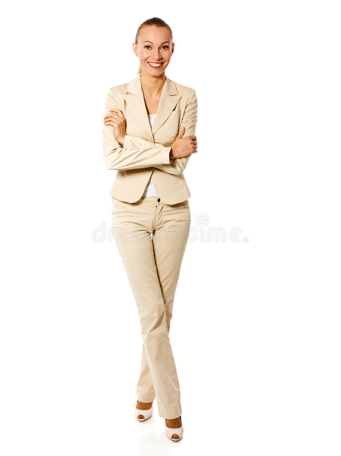 Standing businesswoman royalty free stock photos