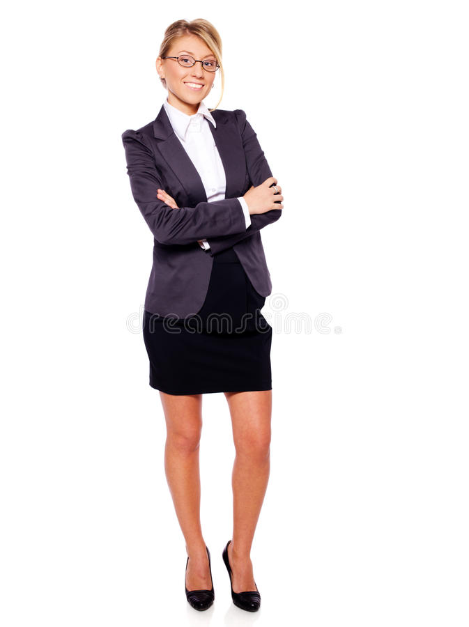 Standing businesswoman stock image