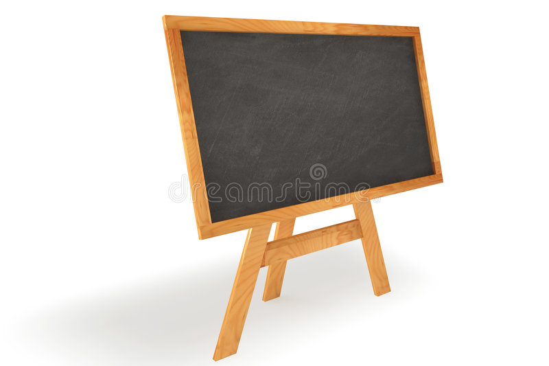 Standing Chalkboard royalty free stock images