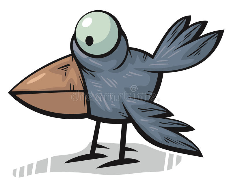 Download Standing crow stock illustration. Image of cute, serious - 23461850