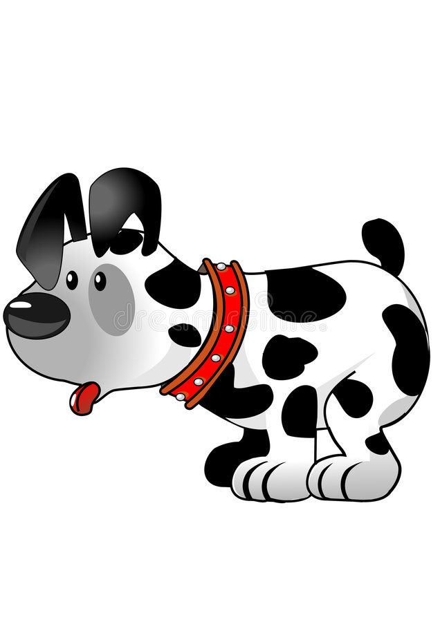 Download Standing dog with collar stock illustration. Illustration of lost - 8280294