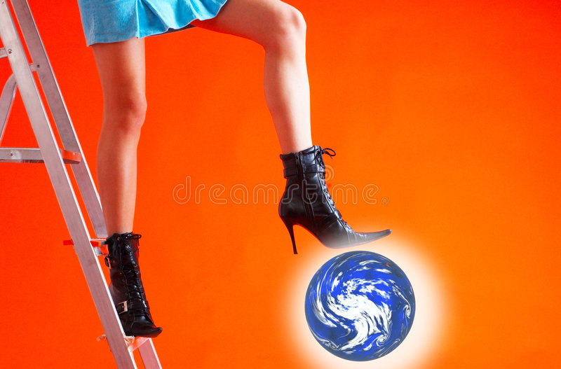 Standing On The Earth royalty free stock photo