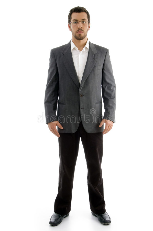 Standing Executive With Eyewear Royalty Free Stock Photos