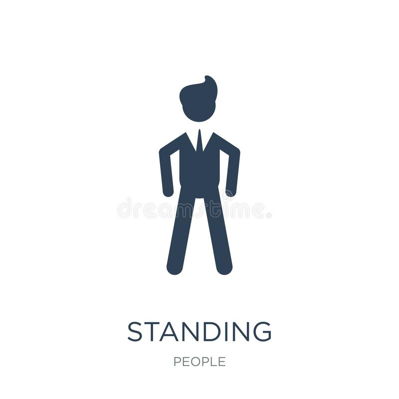 Standing frontal man icon in trendy design style. standing frontal man icon isolated on white background. standing frontal man. Vector icon simple and modern vector illustration