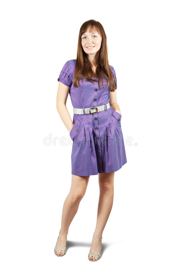 Download Standing girl in   dress. stock photo. Image of lifestyle - 14862190