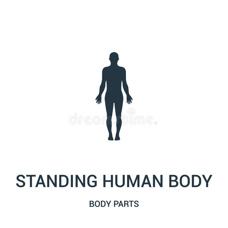 Human Body Silhouette With Highlight On Large Intestines Icon Vector From Body Parts Collection Thin Line Human Body Silhouette Stock Vector Illustration Of Human Icon 143541412 Here you can explore hq human icon transparent illustrations, icons and clipart with filter setting like size, type, color etc. dreamstime com