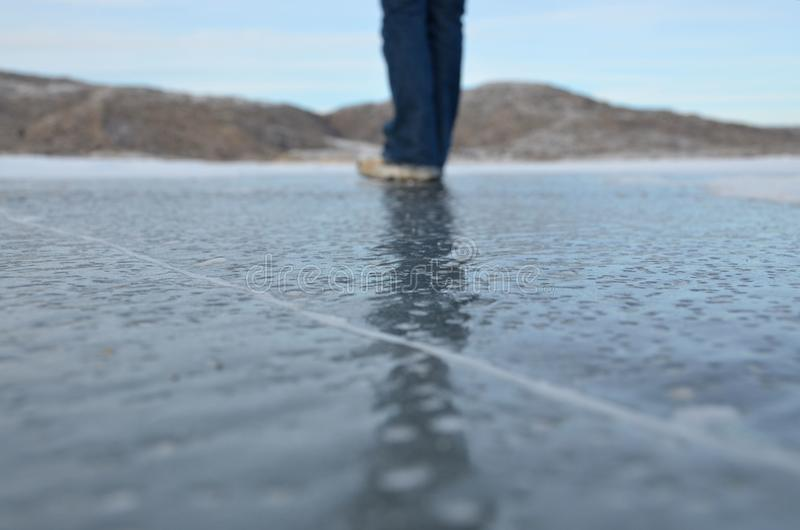 Download Standing on Ice stock image. Image of sheet, line, walk - 23303011