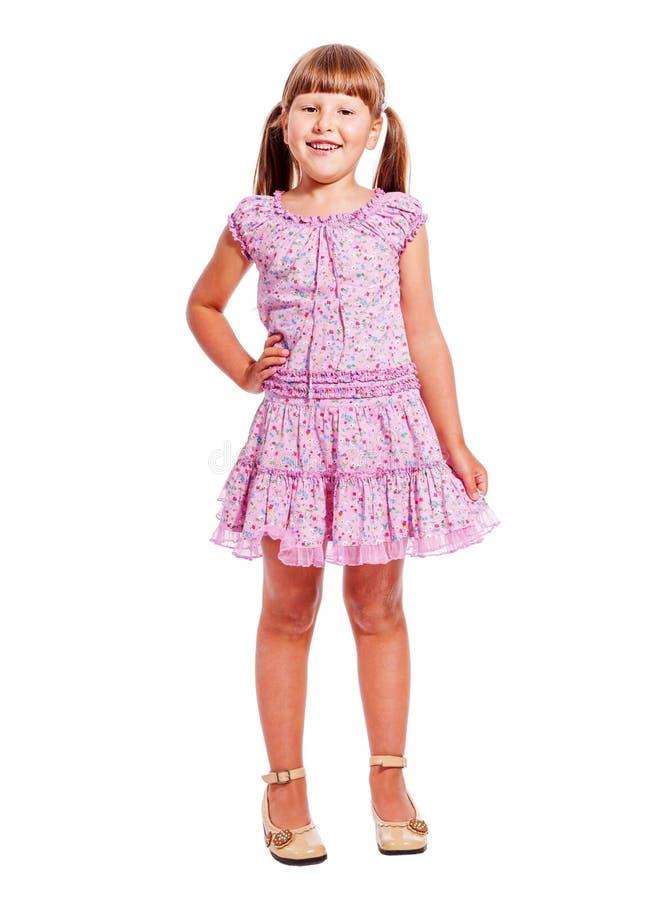 Standing little girl stock photos