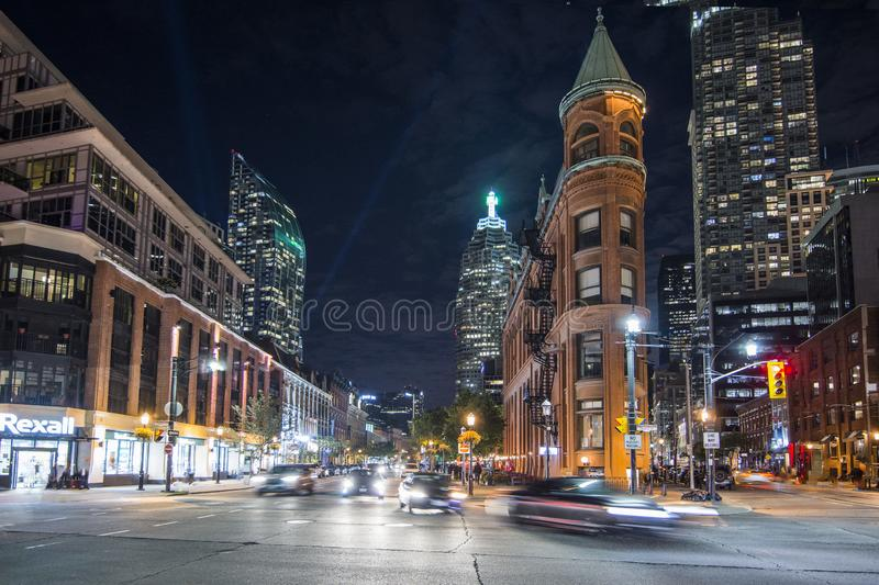 A Night Shot of the Flatiron Building royalty free stock photography