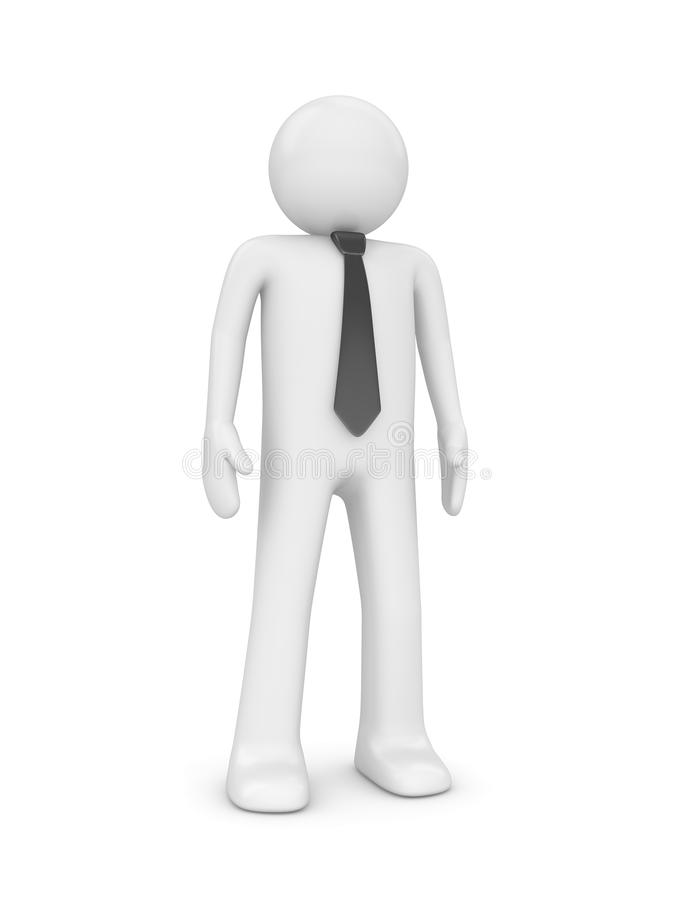 Standing man with tie stock photography