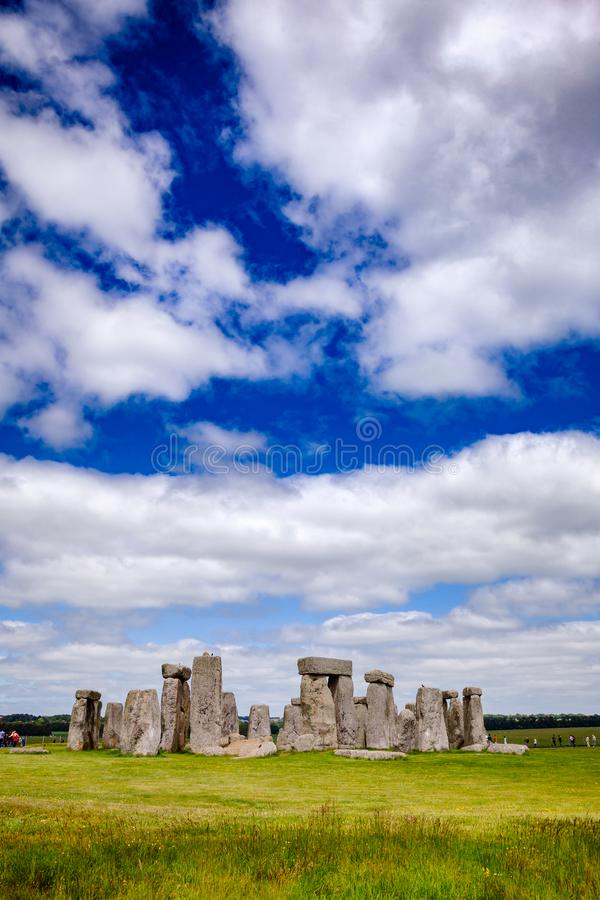 Stonehenge prehistoric monument Wiltshire South West England UK. Standing megalith stones of ancient prehistoric monument Stonehenge in Wiltshire, South West royalty free stock photography