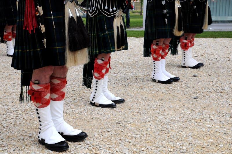 Detail of original Scottish kilts royalty free stock photos
