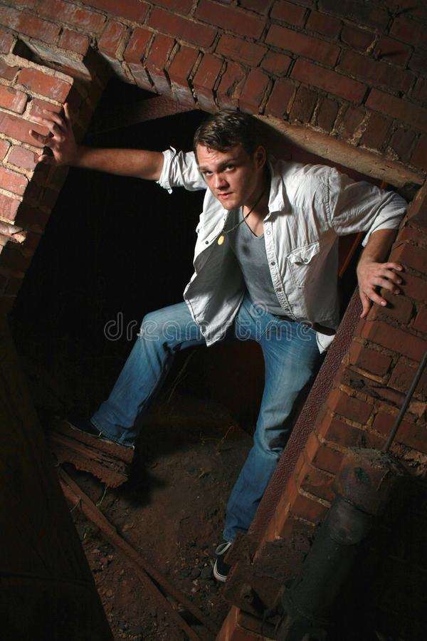 Download Standing In An Old Brick Opening Stock Images - Image: 21358454