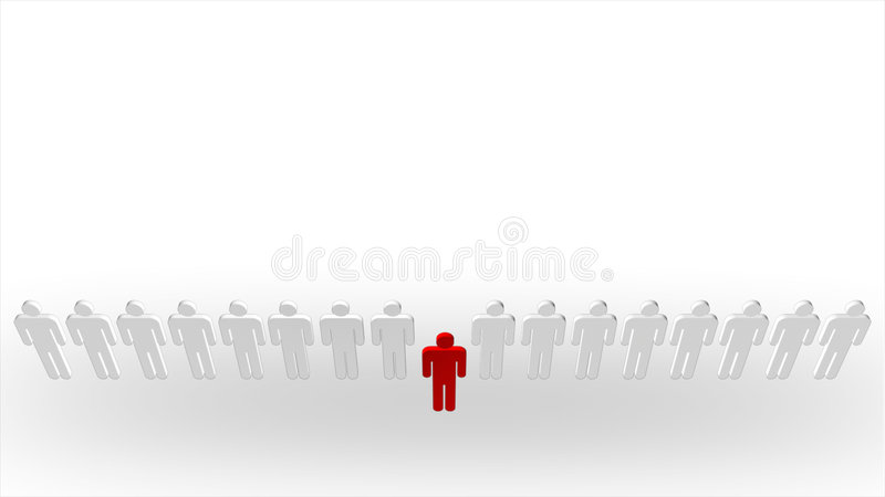 Standing Out From The Crowd Royalty Free Stock Image
