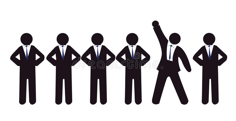 Standing out in crowd vector illustration