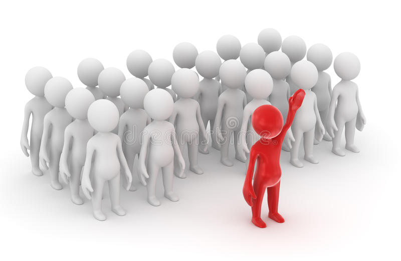 Download Standing Out From The Crowd Stock Illustration - Image: 33750664