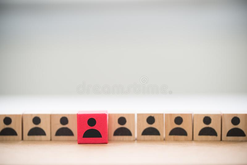 Standing out from the crowd and different concept royalty free stock photography