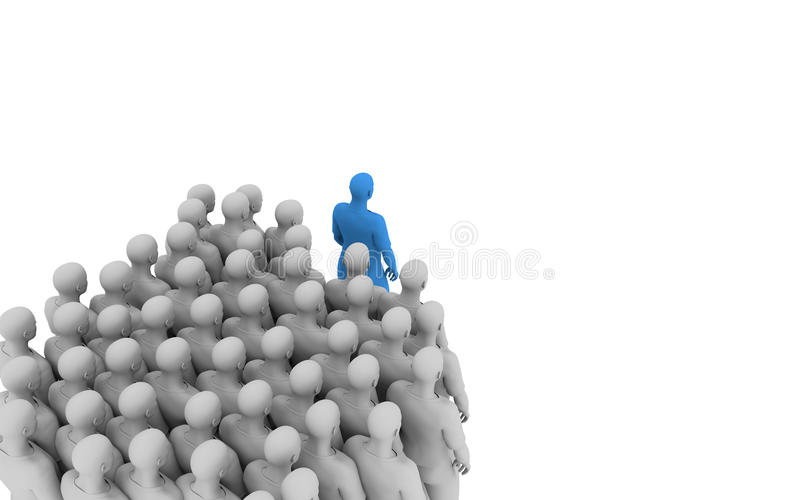 Download Leading and following stock illustration. Image of following - 31752082
