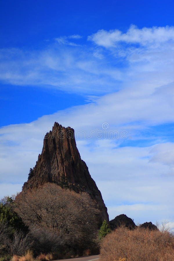 Standing Ovation. One of the more common rocks to climb at Garden of the Gods in Colorado Springs, CO royalty free stock photos