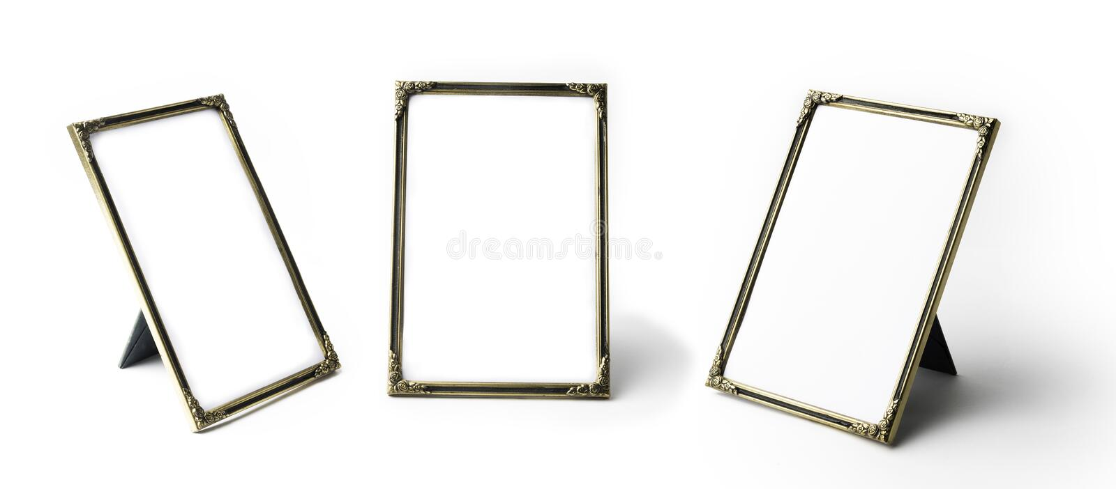 Download Standing Picture Frame Stock Image Of Gold Reflection