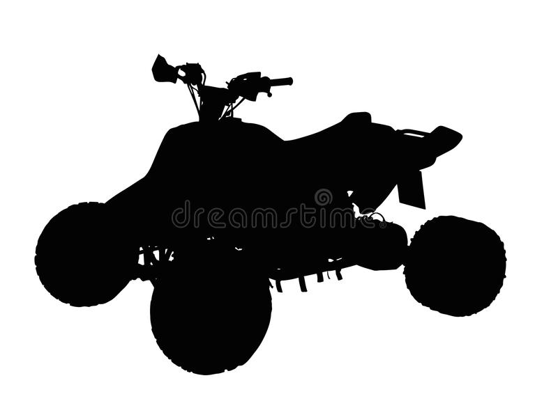 Download Standing Quad Bike ATV Isolated Silhouette Stock Vector - Image: 42591354