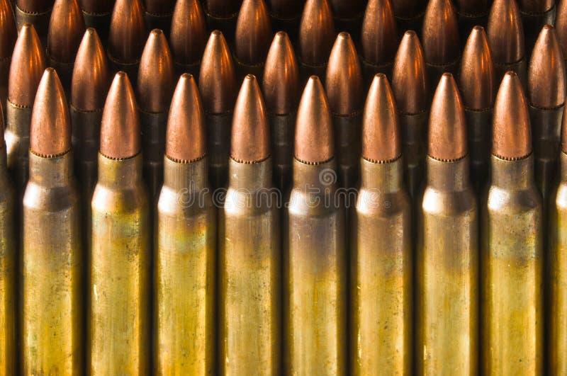 Standing Rifle Cartridges Stock Image