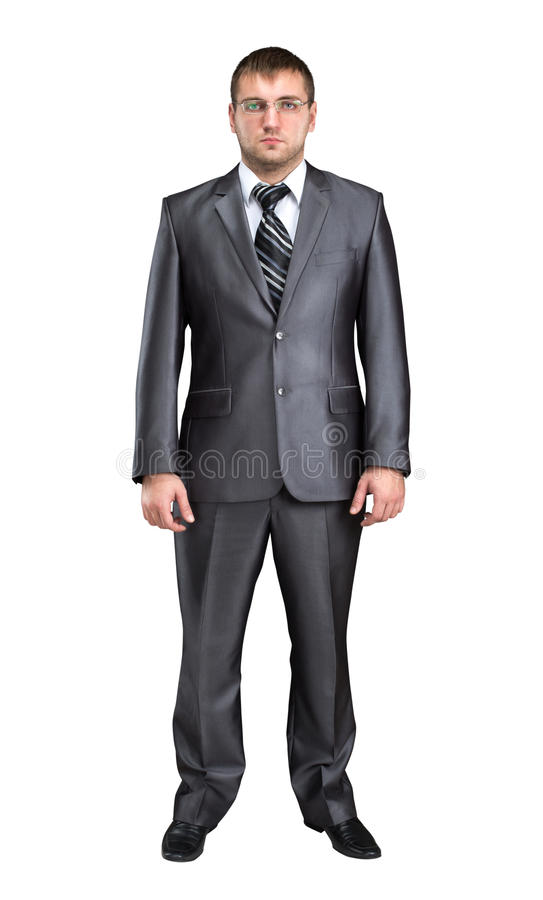 Standing serious businessman royalty free stock photography