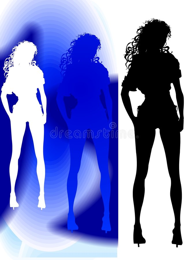 Standing Silhouette stock photo