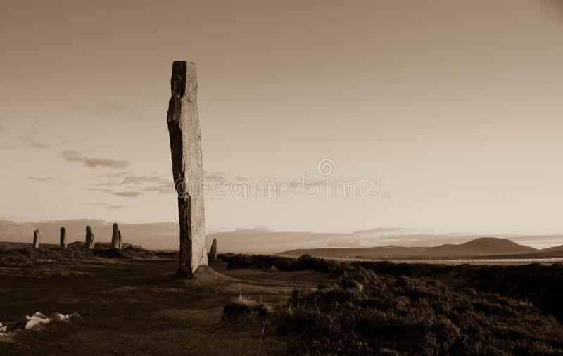 Standing Stones, Brodgar, Orkney royalty free stock photos