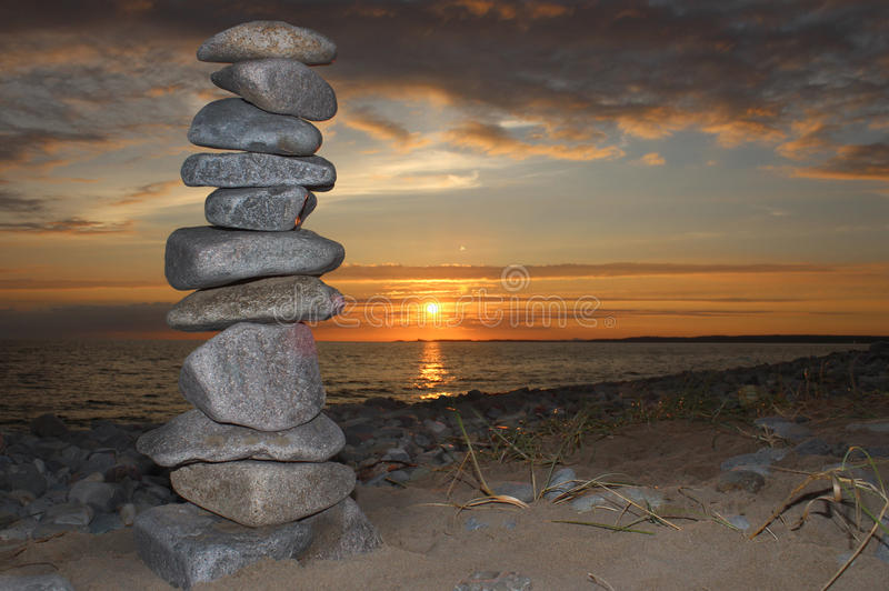 Standing Stones In The Menai royalty free stock images
