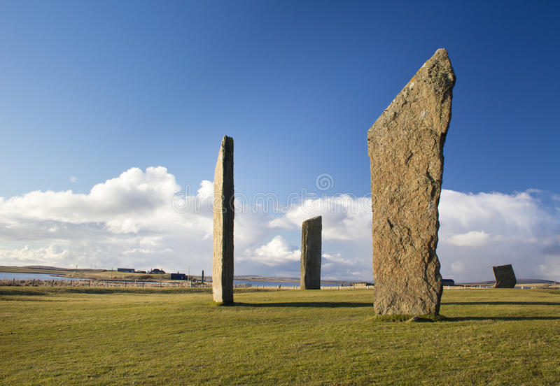 Standing Stones of Stenness stock images