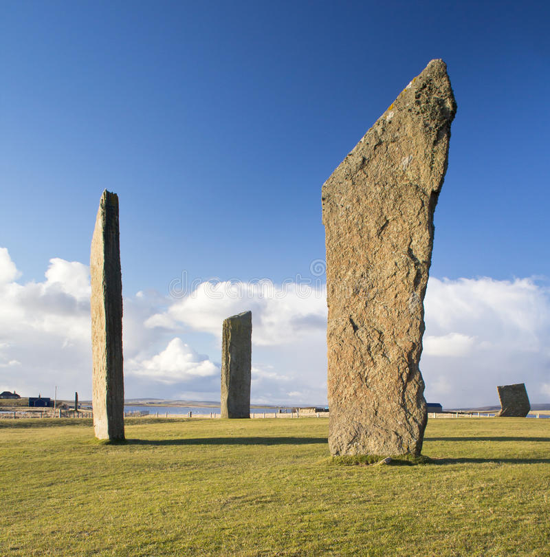 Standing Stones of Stenness royalty free stock photo